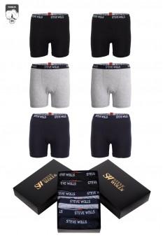 Çocuk Karışık Düz Renk 6'lı Boxer Set
