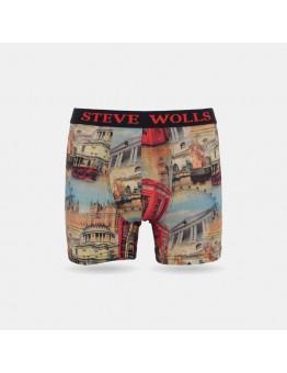 Londra Desenli Dijital Baskı Erkek Boxer