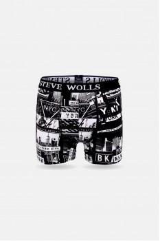 Newyork Desenli Pigment Baskı Erkek Boxer