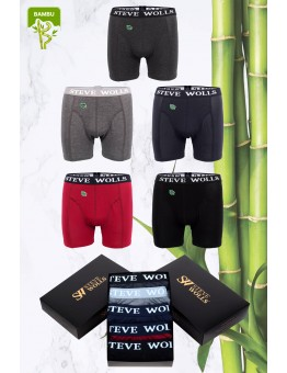 Erkek Karışık Renk Bambu 5'li Boxer Set