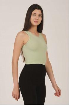 Kadın Mint Yeşil Yüzücü Crop Top