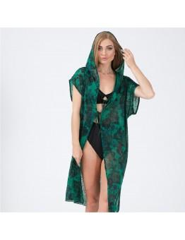 Yeşil Kapşonlu Pareo