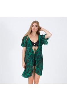 Kadın Yeşil Büzgülü Pareo